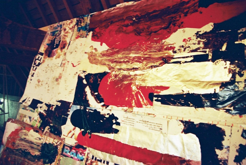 5. fragment, paint on posters, paper